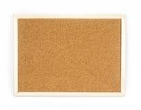 Bulletin board on white background, cork board Stock Photography
