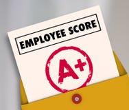 Bulletin A+ plus le score d'évaluation supérieur d'examen d'estimation de catégorie Photographie stock