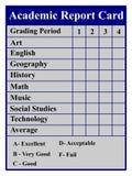 Bulletin scolaire Photos libres de droits