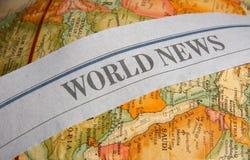 Bulletins d'information du monde images stock