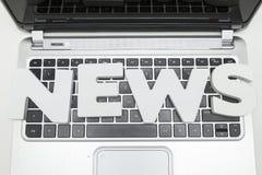 Bulletins op toetsenbord Stock Fotografie