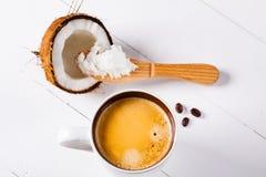 Bulletproof coffee. Stock Photos