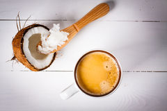 Bulletproof coffee. Stock Image