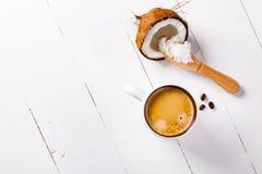 Bulletproof coffee. Royalty Free Stock Photos