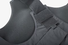 Bulletproof vest. Isolated of white stock photography