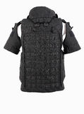 Bulletproof vest. Body armor covers, Camouflage, black royalty free stock photography