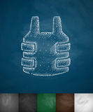 Bulletproof vest icon Royalty Free Stock Image