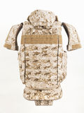 Bulletproof vest. And waist belt, body armor covers, Camouflage royalty free stock images
