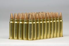 Bullets. 17 HMR hollow tip full metal jacket.  Fifty rounds Stock Photo