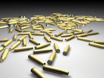 Bullets. Bulk of blank rifle bullets - 3d rendering Stock Image