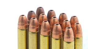 Bullets. Small caliber bullets with corroded casings Stock Images