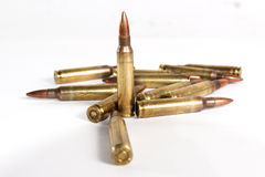 Bullets. Bullet army m16 rifle war peace jack full metal idf soldier gun fire target kill killing blood 5.56 NATO standard terror attack Stock Photography