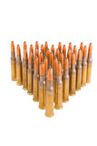 Bullets. A lot of bullets on the white Royalty Free Stock Image