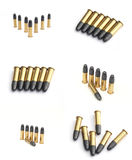 Bullets. Separated on white background in fev different positions Stock Image