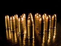 Bullets. Aligned bullets in dark Stock Photos