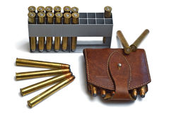 Bullets and ammunition Royalty Free Stock Image