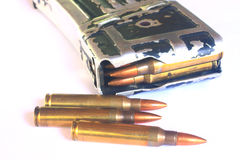 Bullets (ammunition) for gun Royalty Free Stock Photos