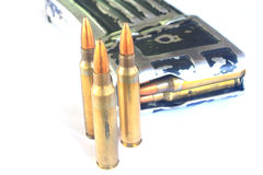 Bullets (ammunition) for gun Royalty Free Stock Image