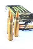Bullets (ammunition) for gun Stock Photos