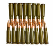 Bullets arranged face to face Royalty Free Stock Image