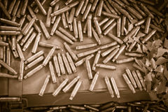 Bullets background Stock Image