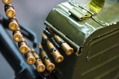 Bullets on a belt Stock Image