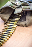 Bullets in a belt Royalty Free Stock Photos