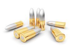 Bullets. Cartridge. 3D Stock Photo
