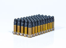 Bullets Cartridge. On white background Stock Photos