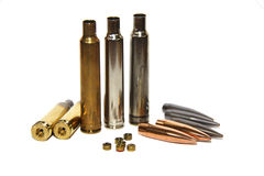 Bullets, cartridges and percussion caps Royalty Free Stock Photography