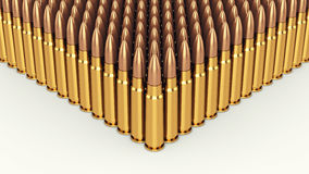 Bullets. Cartridges on white background , Ammunition royalty free illustration