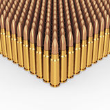 Bullets. Cartridges on white background , Ammunition , Gun control royalty free illustration