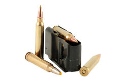 Bullets and charger Stock Photography