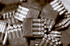 Bullets in clips Royalty Free Stock Image