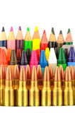 Bullets and Crayons Royalty Free Stock Photo