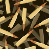 Bullets 3d seamless pattern. Texture of military ammunition.  Stock Photo