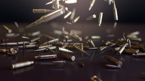 Bullets Falling. High quality animation of bullets falling. Animation in super slow motion, best as a background for Your movie, event, videoclip