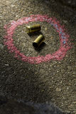 Bullets on the ground Royalty Free Stock Photography