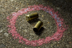 Bullets on the ground Royalty Free Stock Images