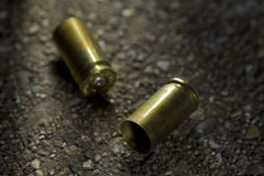 Bullets on the ground Stock Photo