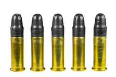 Bullets. Group of bullets isolated on white stock photos
