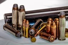 Bullets and Gun Barrel. Royalty Free Stock Image