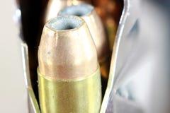 Bullets with gun clip - Gun rights concept Stock Photo