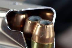 Bullets with gun clip - Gun rights concept Royalty Free Stock Photos