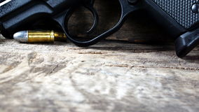 Bullets and gun Royalty Free Stock Photography