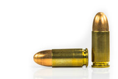 Bullets with the gun Stock Image