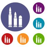 Bullets icons set Stock Photography