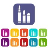 Bullets icons set Royalty Free Stock Image