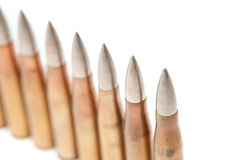 Bullets isolated Stock Image