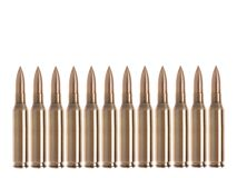 Bullets isolated Royalty Free Stock Photos